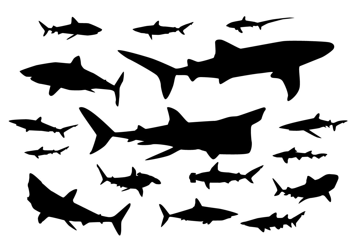 Shark Silhouette Vectors