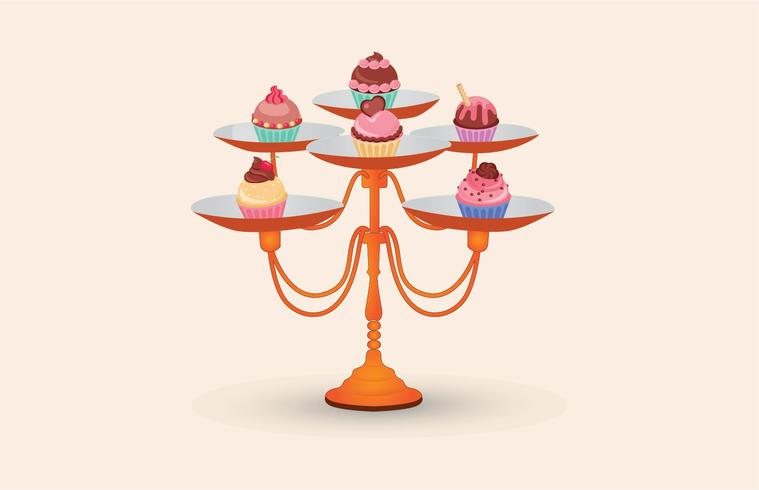 Cupcake Stand Vector Download Free Vectors Clipart