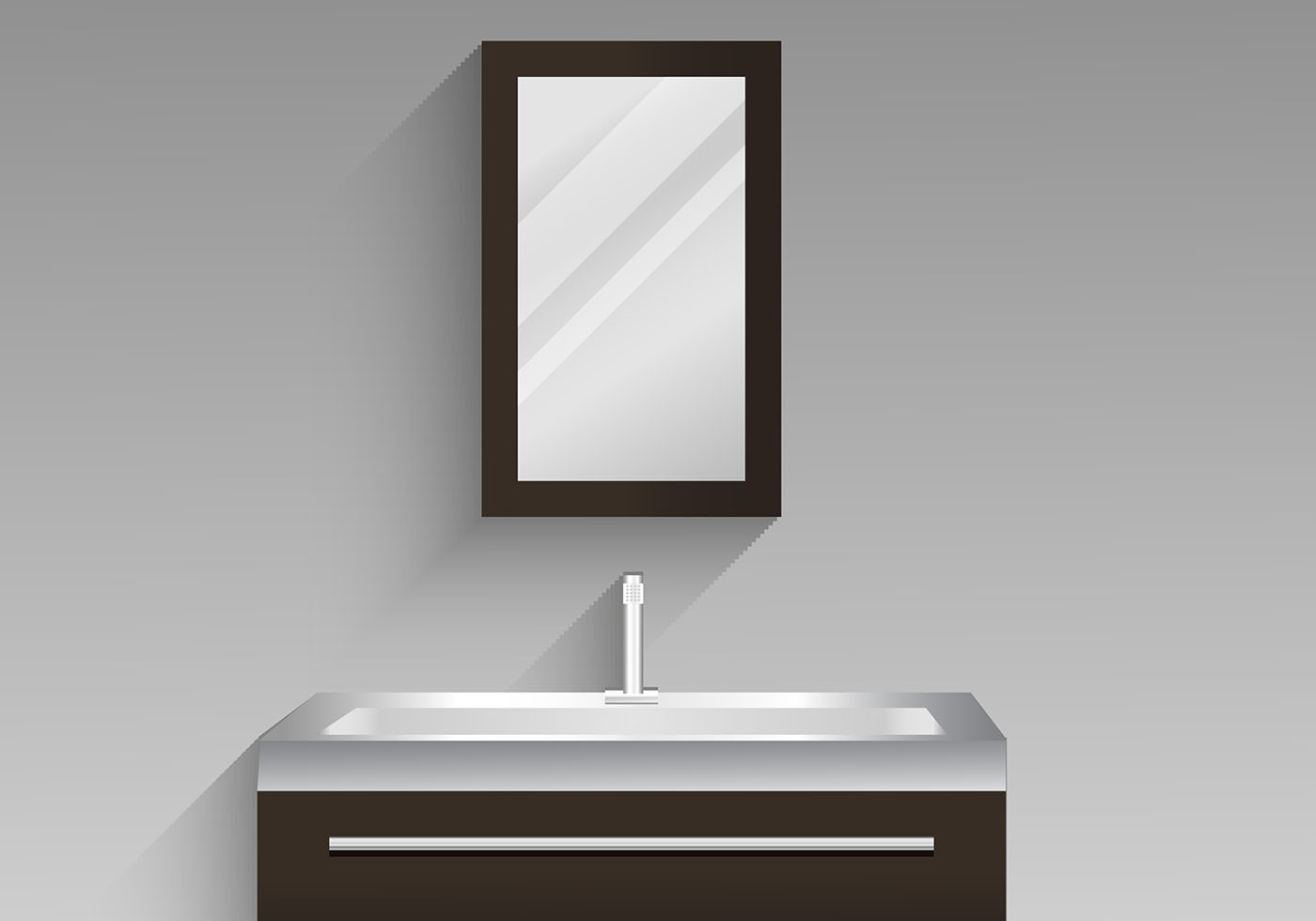 Bathroom Cabinet Vector Design Illustration Download Free Vector Art Stock Graphics Amp Images