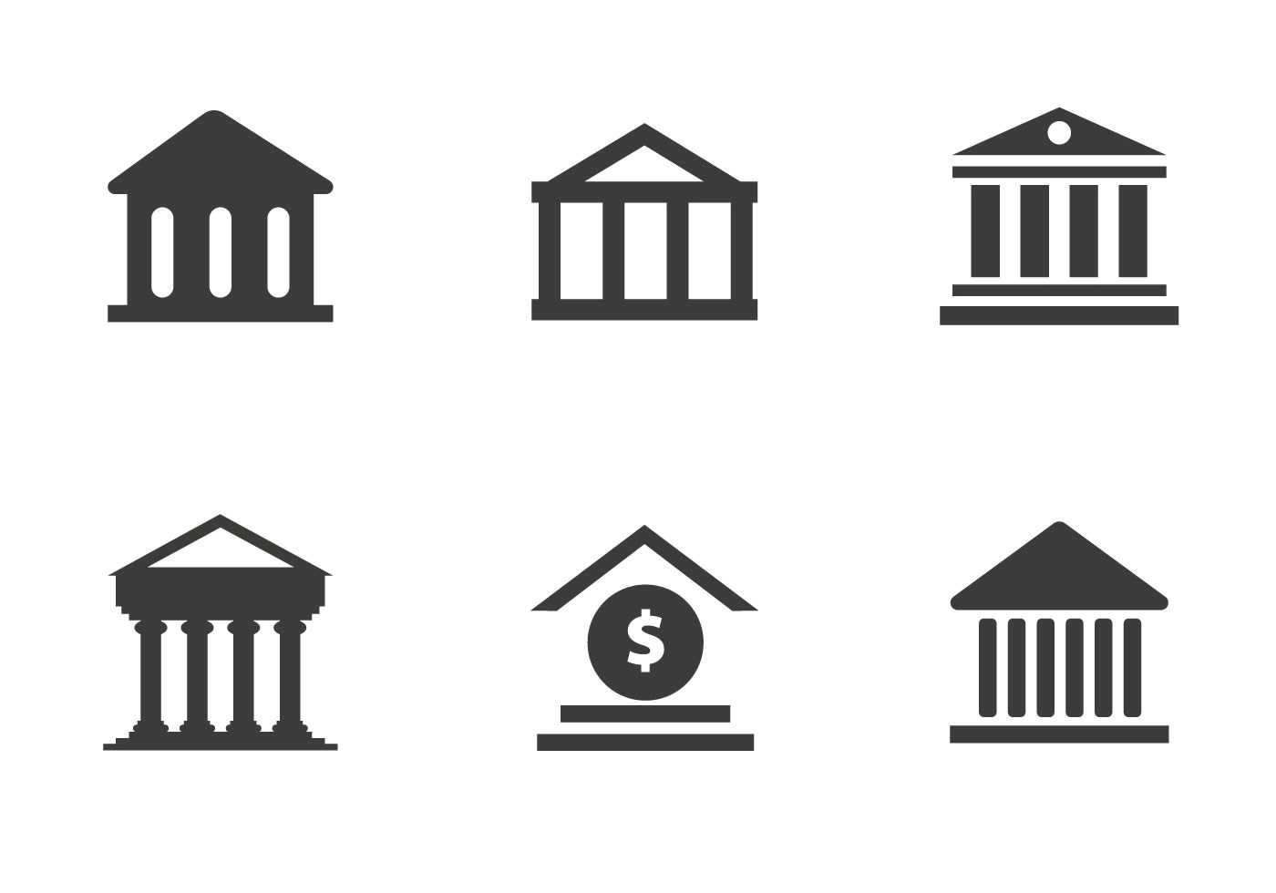Free Bank Icon Vector