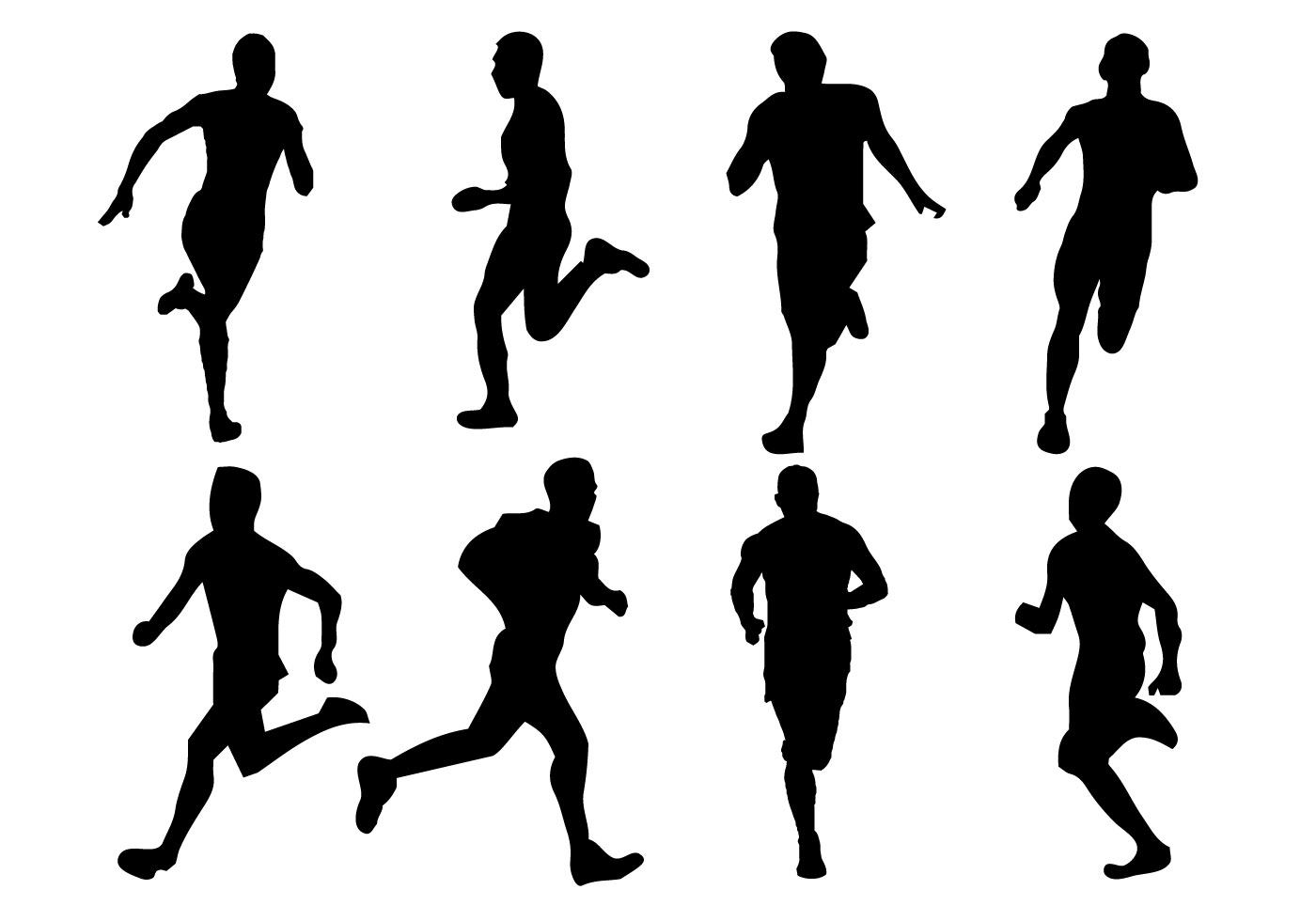 Running Free Vector Art
