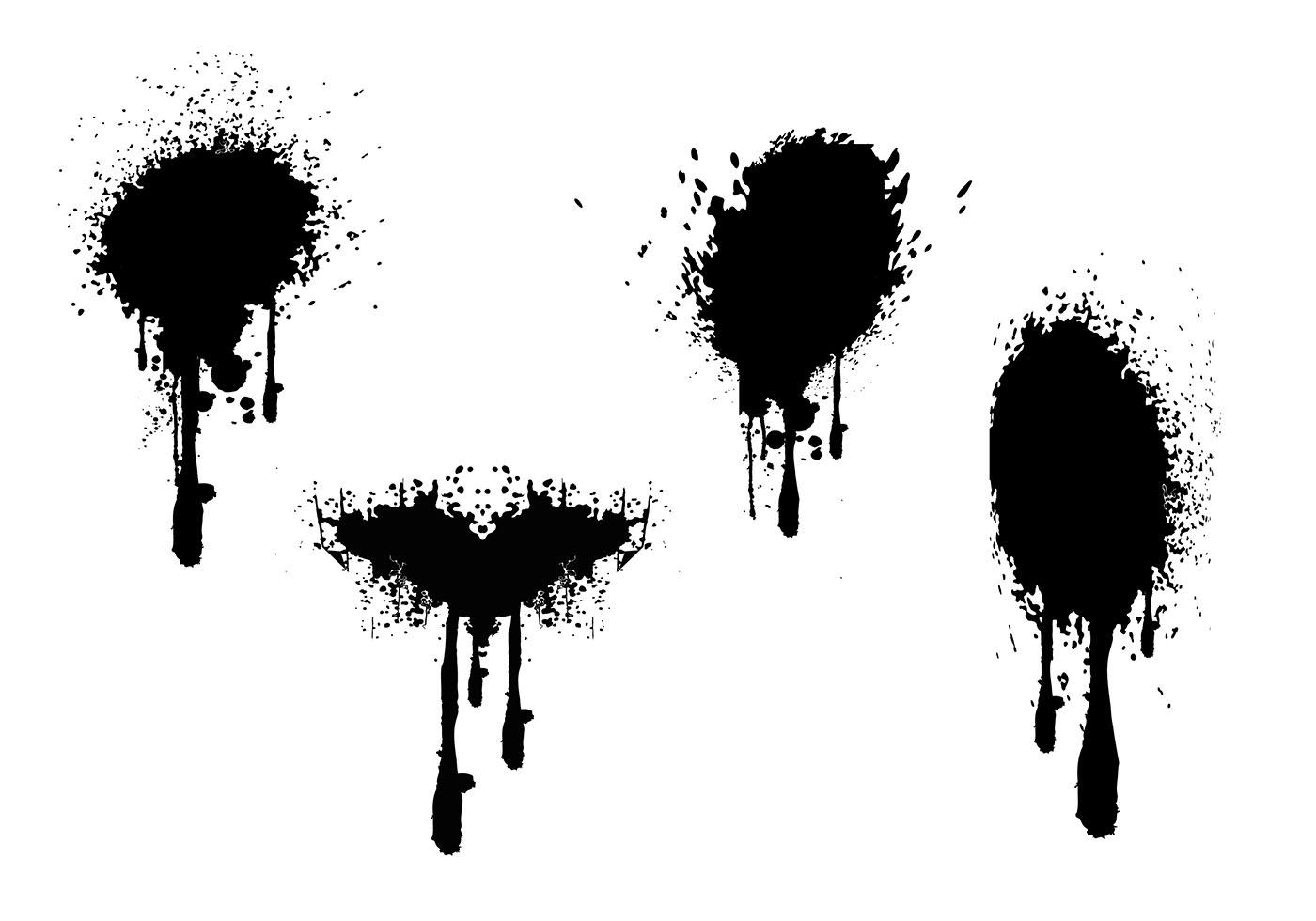 Spray Paint Drips Grunge Vectors