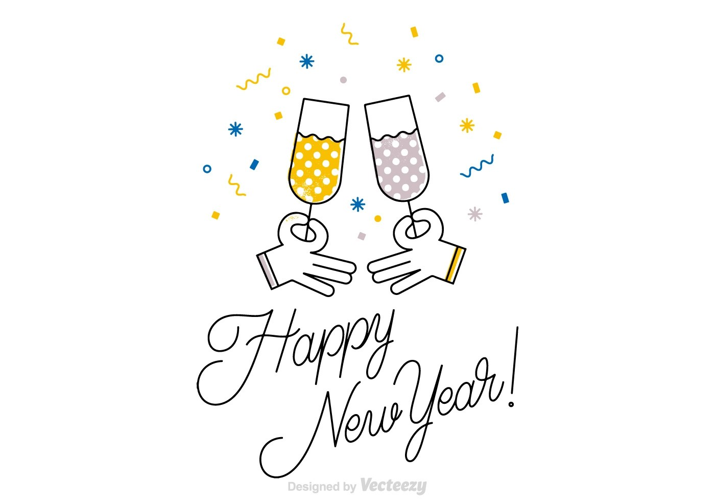 Free Happy New Year Vector Card