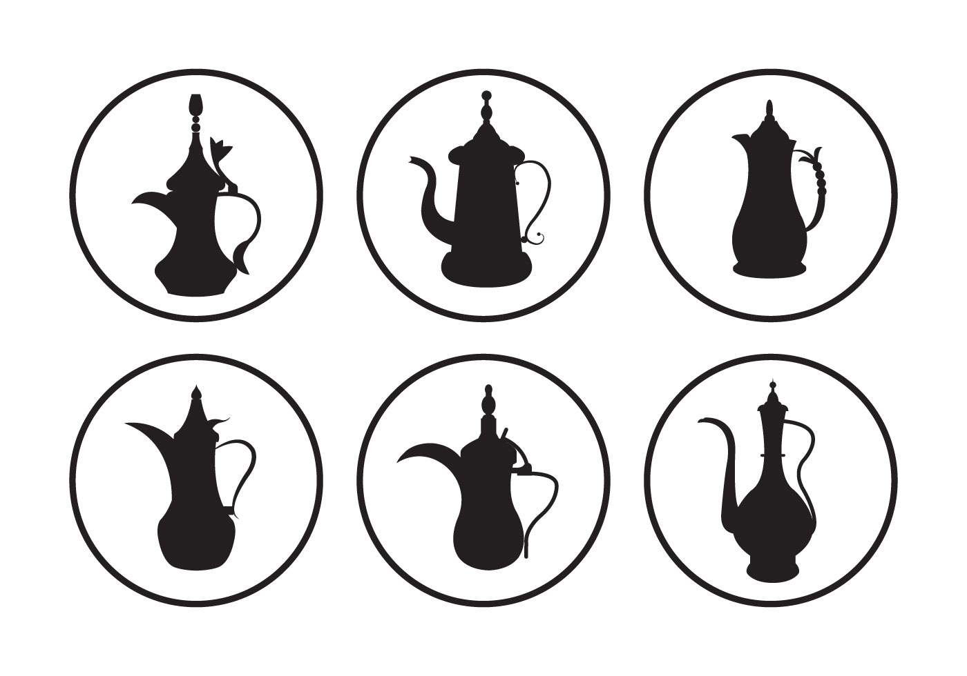 Arabic Coffee Pot Free Vector Art