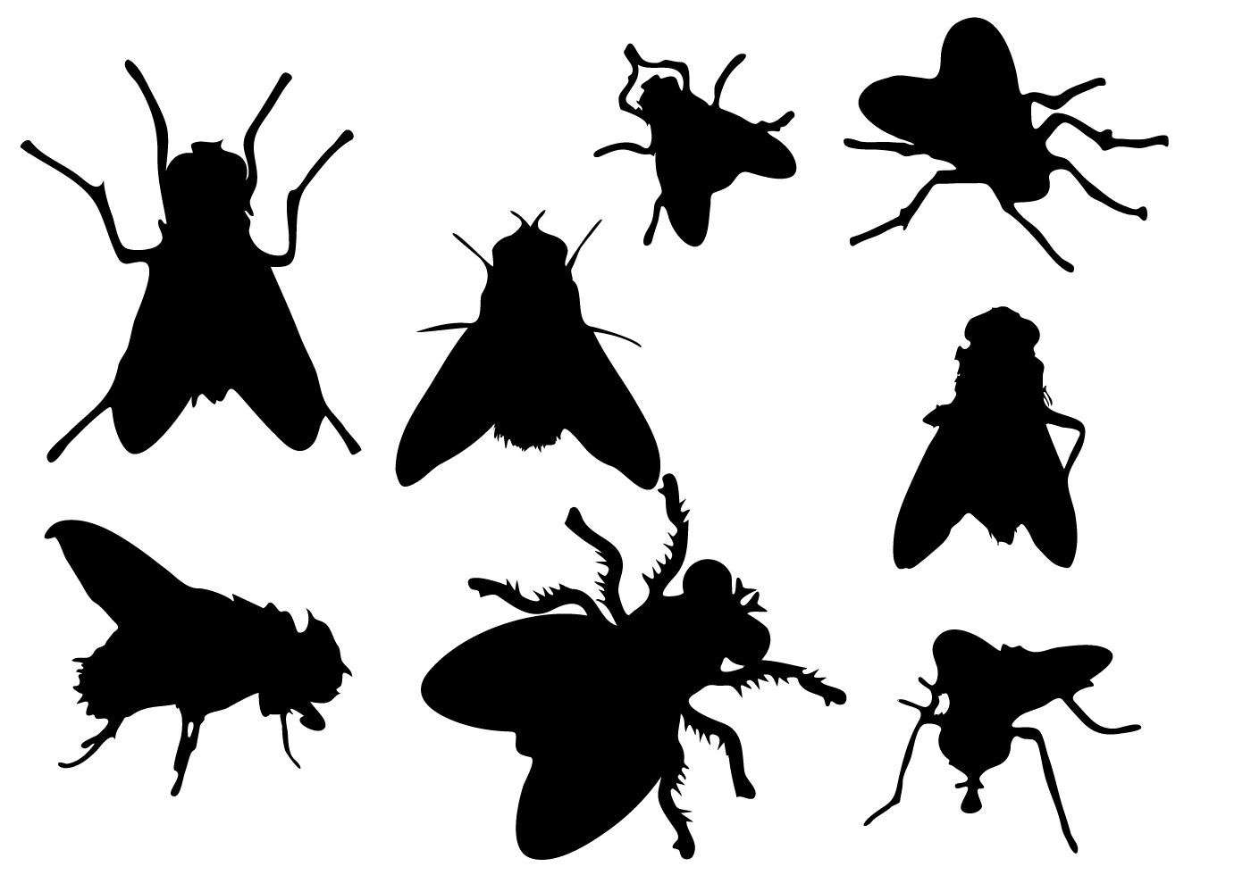 Free Fly Silhouette Vector