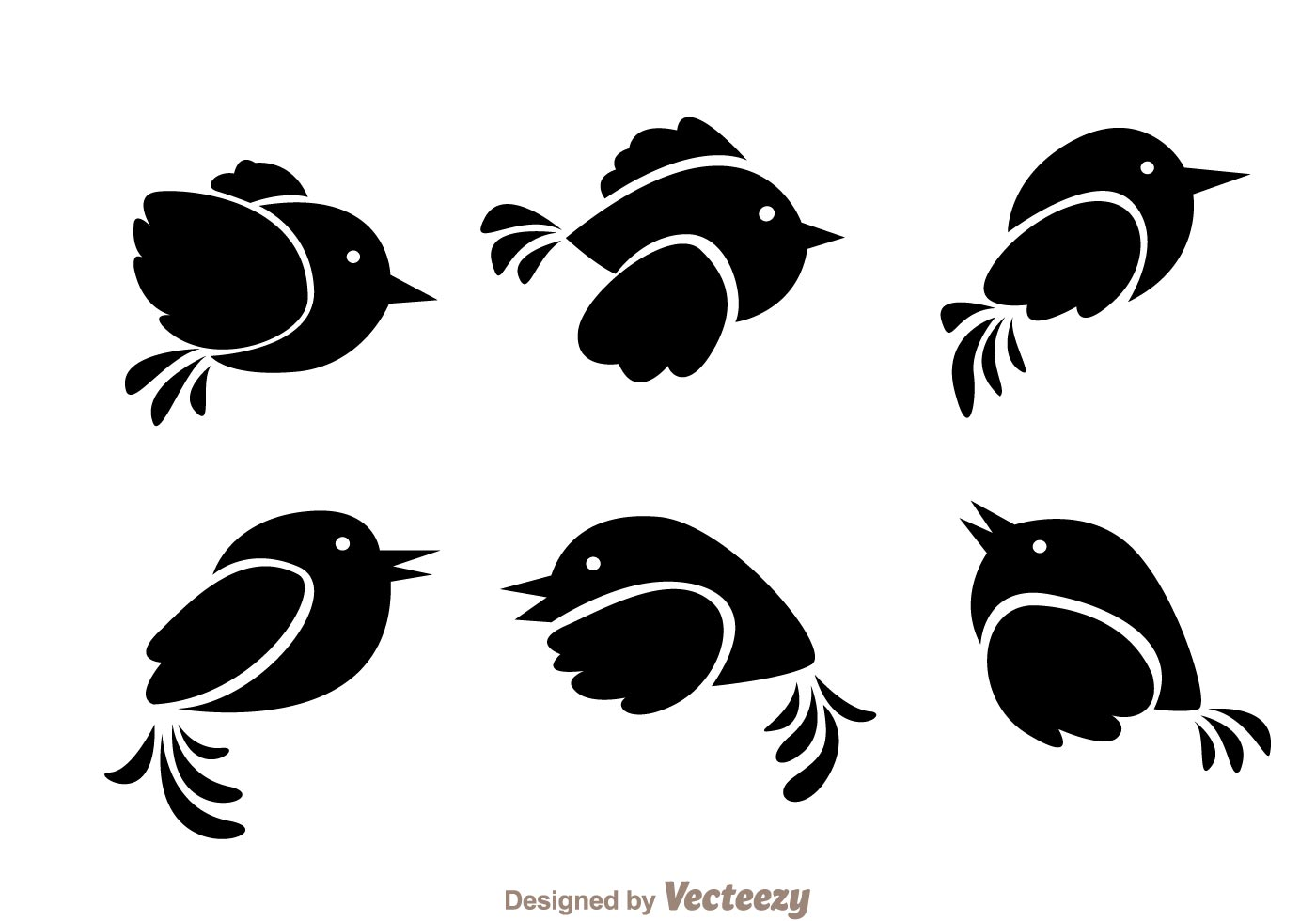 Flying Bird Black Vectors