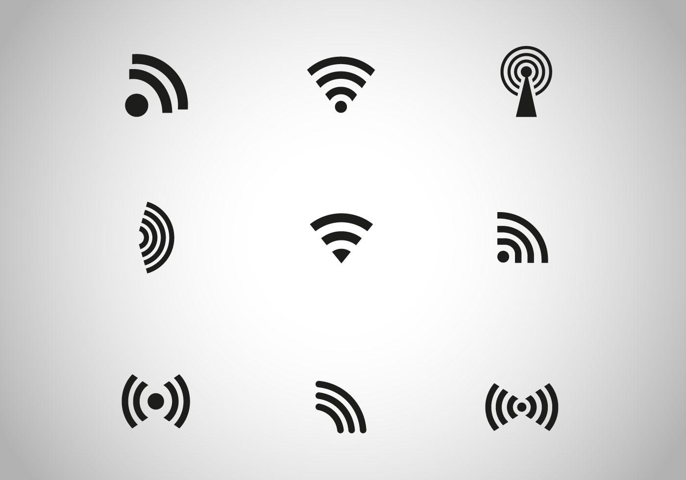 Free Black Wireless Icon Vector Download Free Vector Art