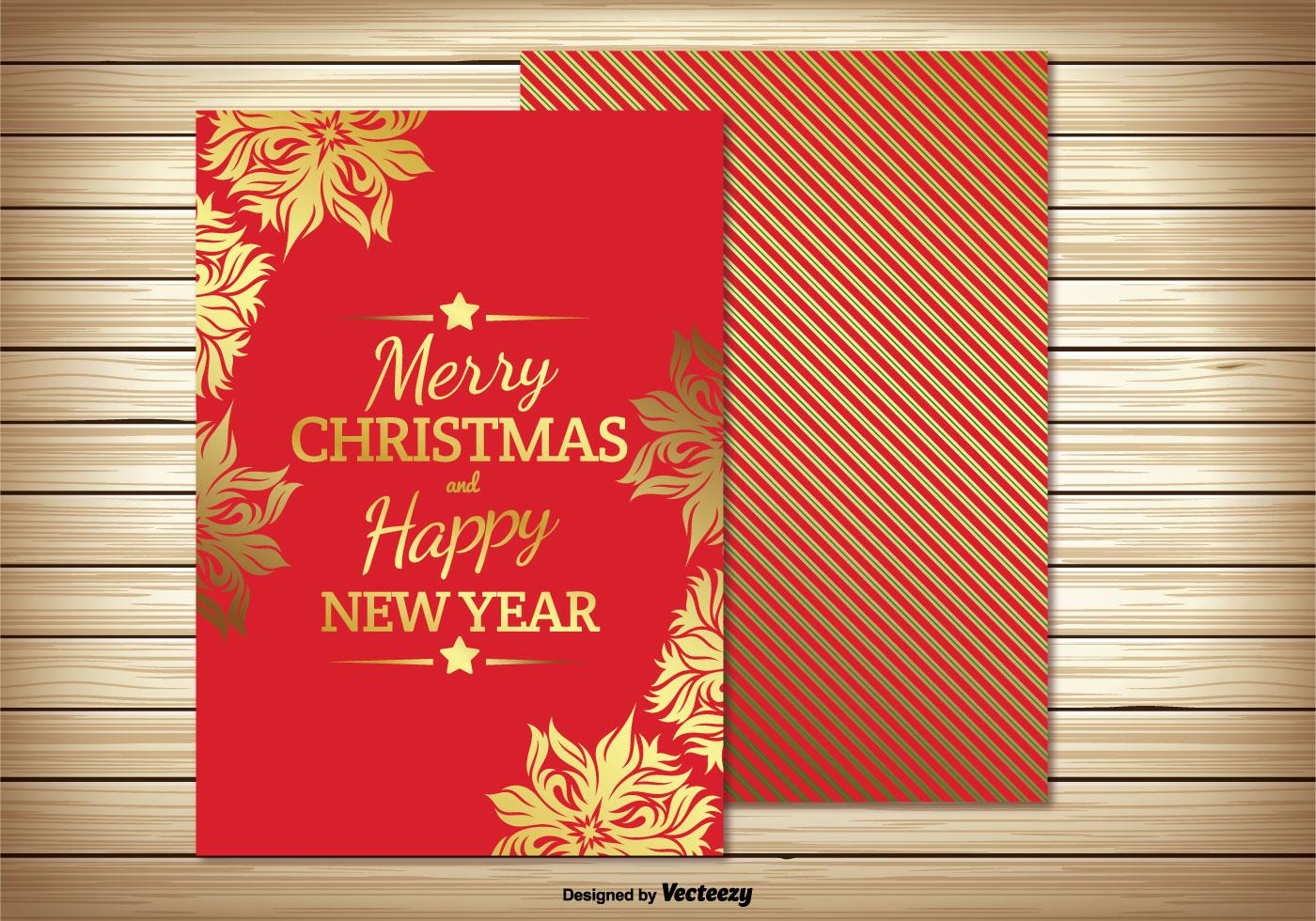 Christmas Card Illustration Download Free Vector Art