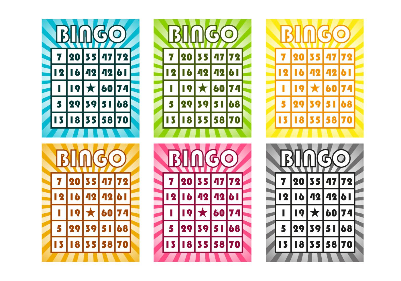 Free Bingo Cards Vector Download Free Vector Art Stock Graphics Amp Images