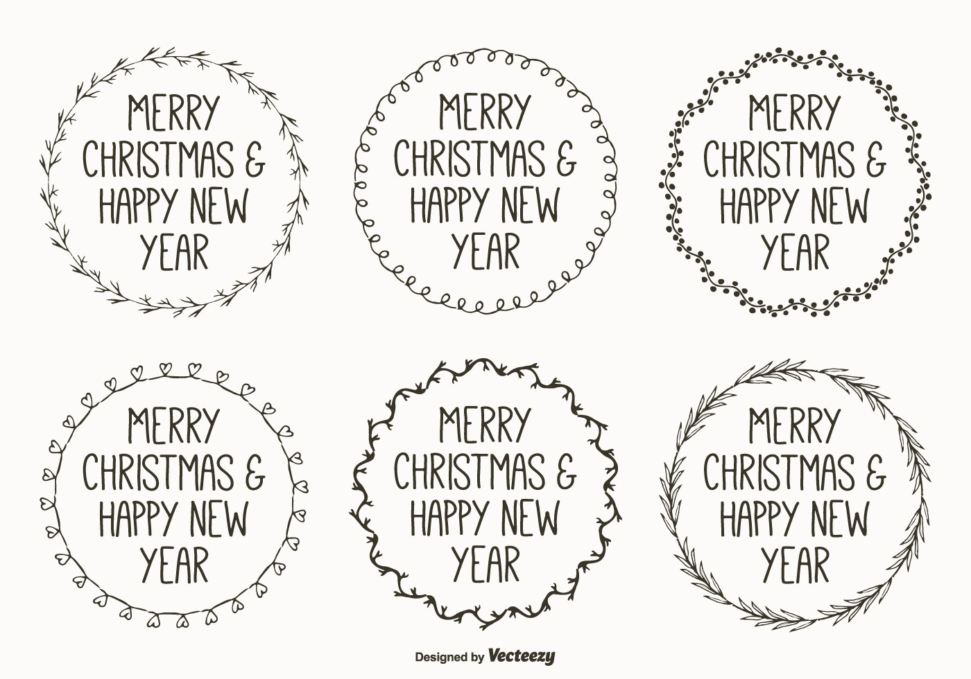Cute Hand Drawn Style Christmas Labels Download Free