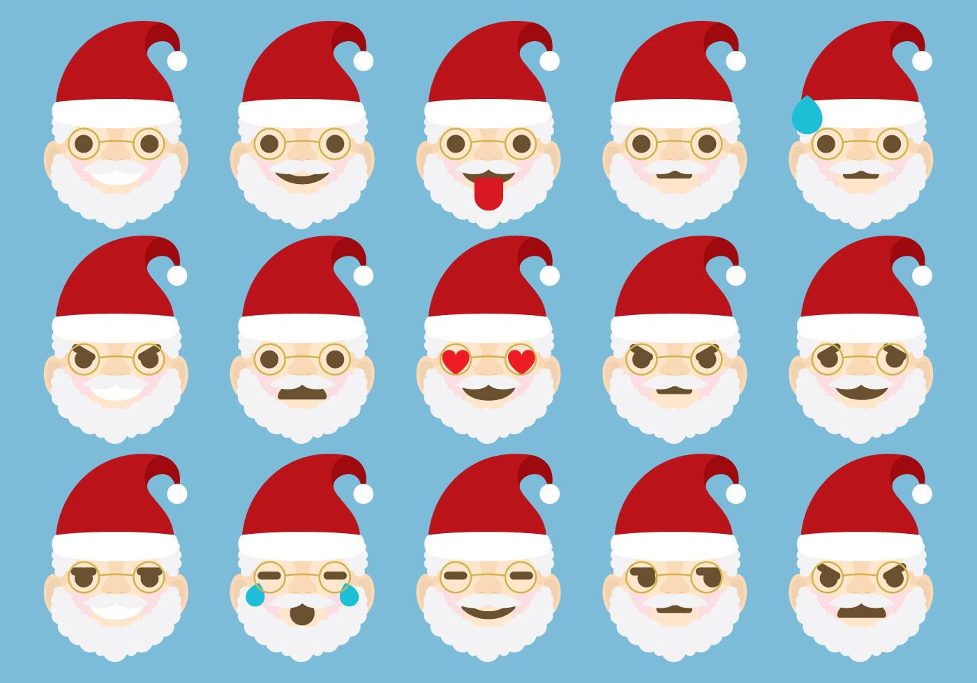 Santa Emoticons Download Free Vector Art Stock Graphics