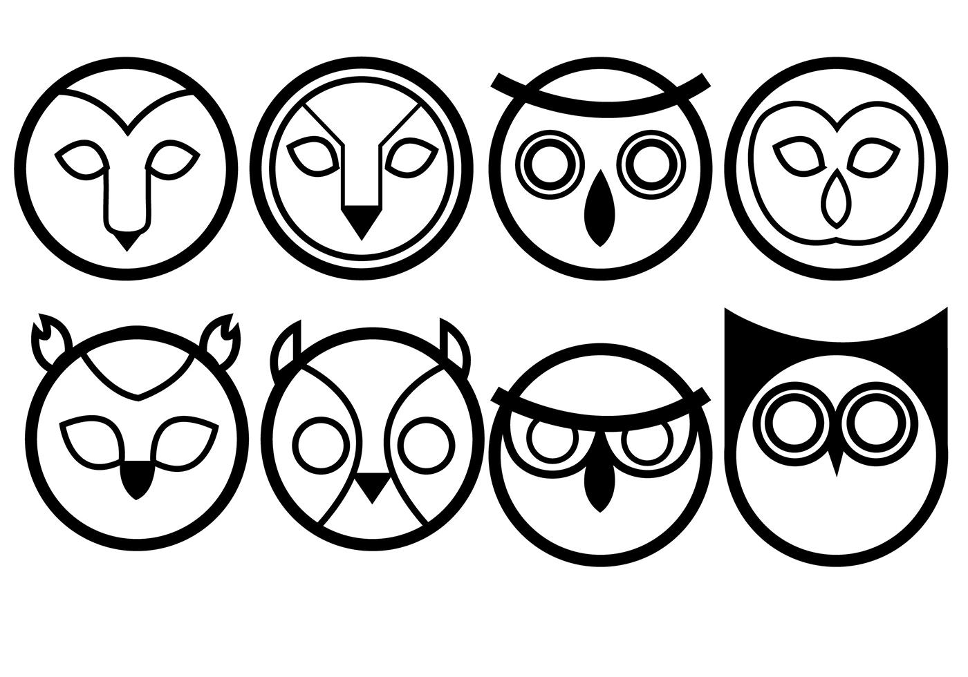 Owls Icon Vectors