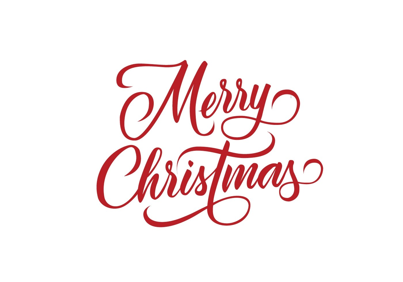 Merry Christmas Decorative Lettering Vector Download