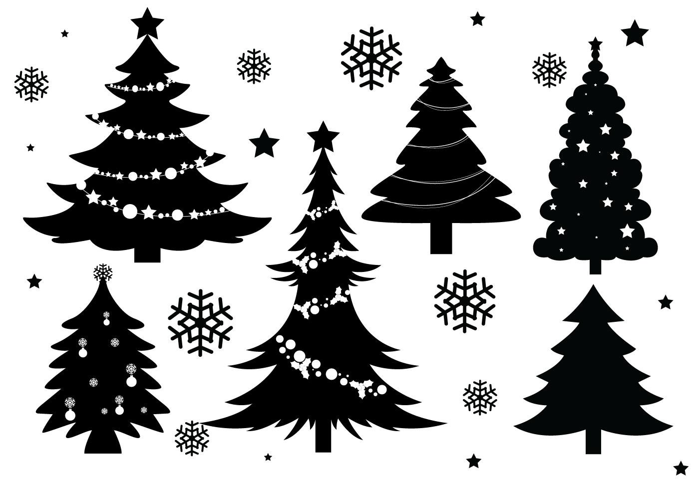 Christmas Tree Silhouette Vectors