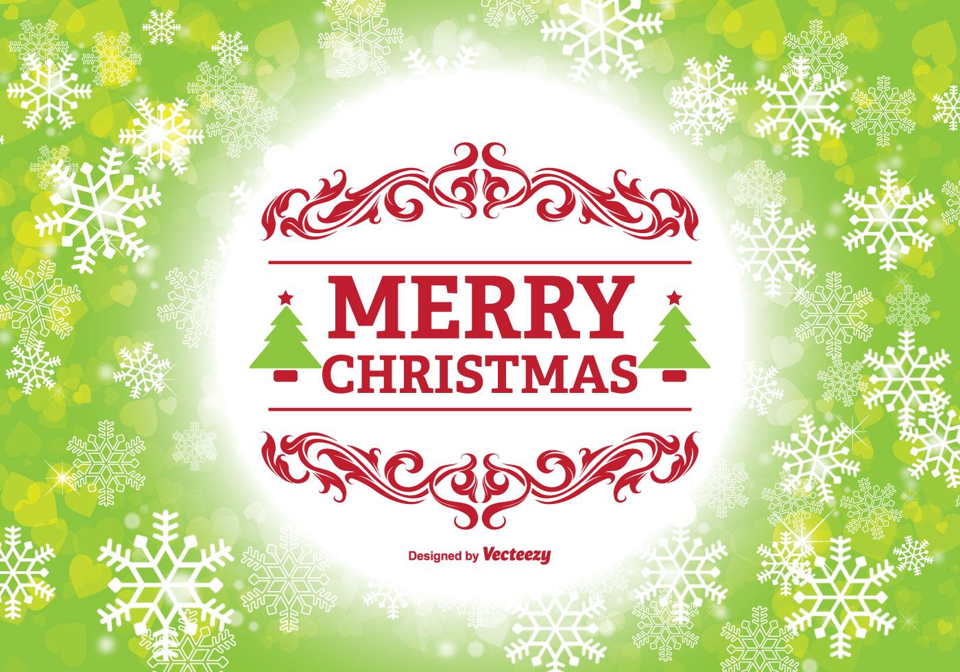 Merry Christmas Illustration Download Free Vector Art