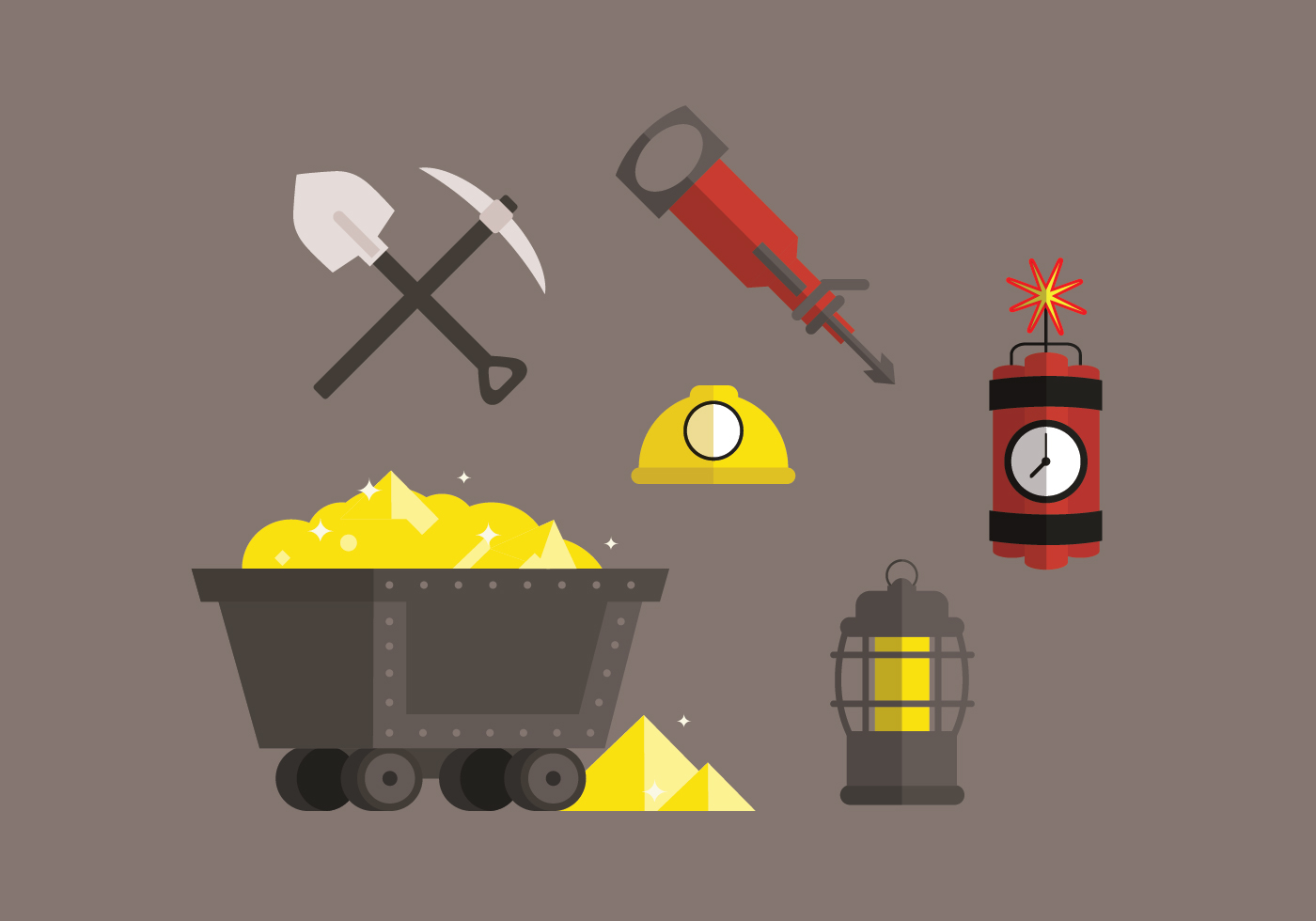Gold Mine Vector Pack Download Free Vector Art Stock