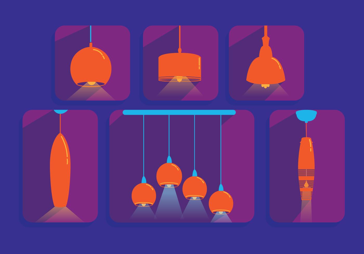 Hanging Light Vector Pendants Download Free Vector Art