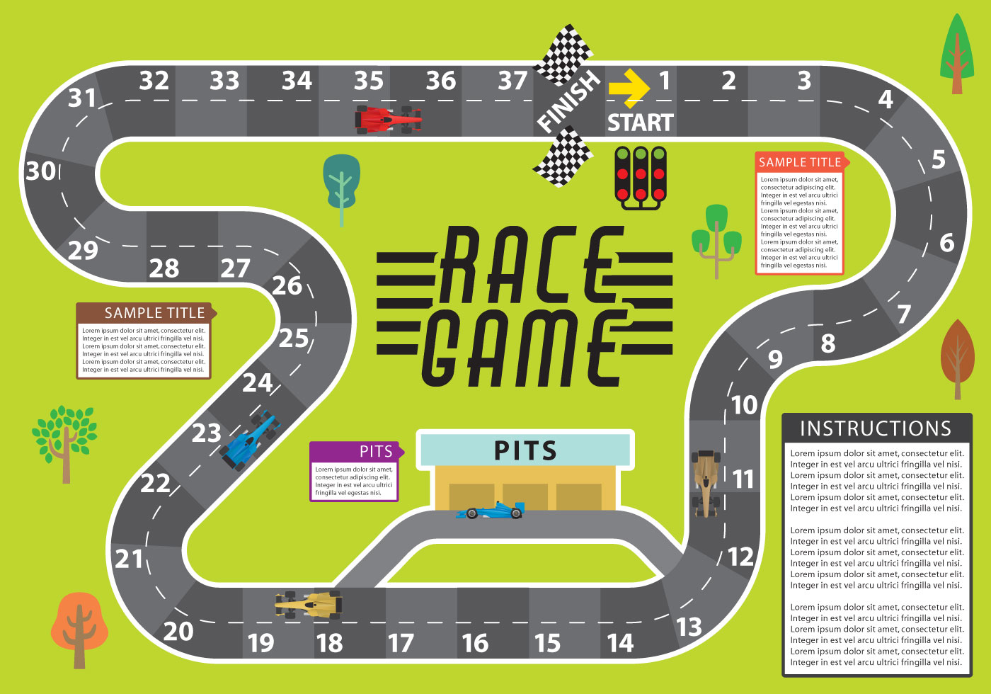 Race Game Vector