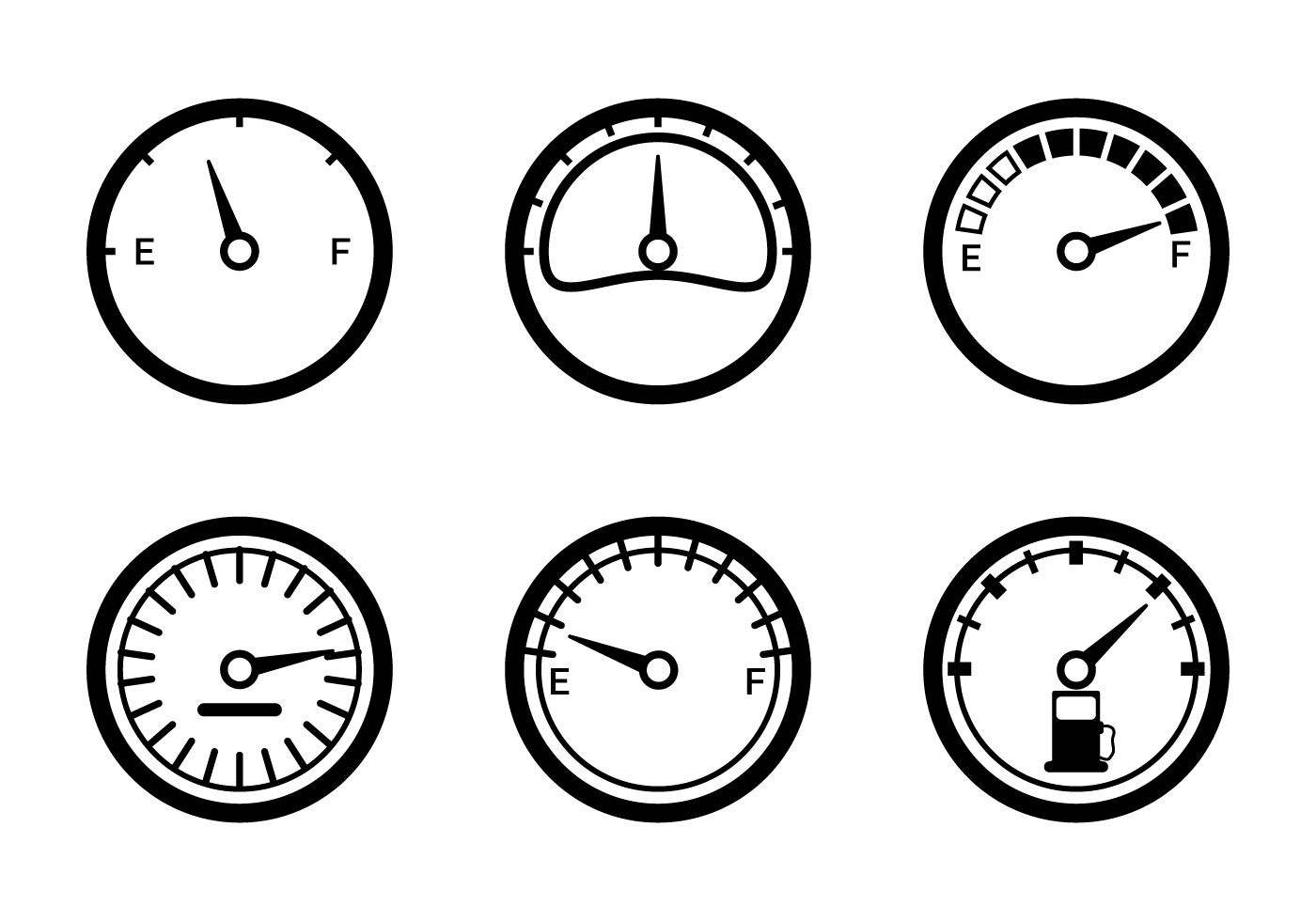 Fuel Gauge Vector