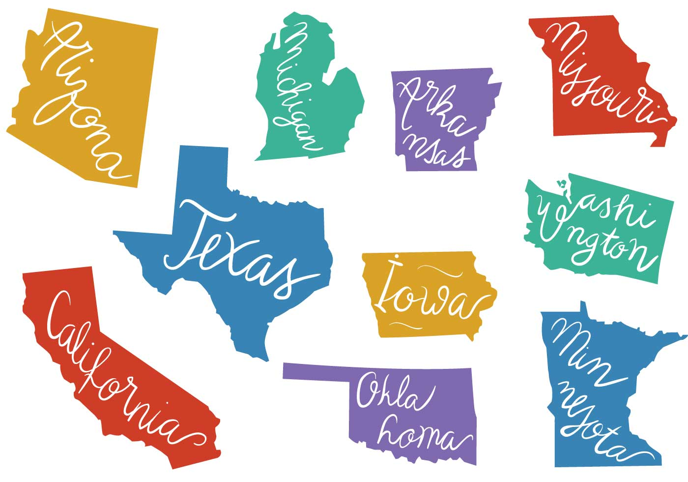 Free States Outlines Vectors