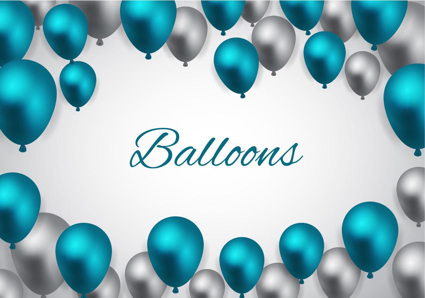 Free Blue Balloons Vector