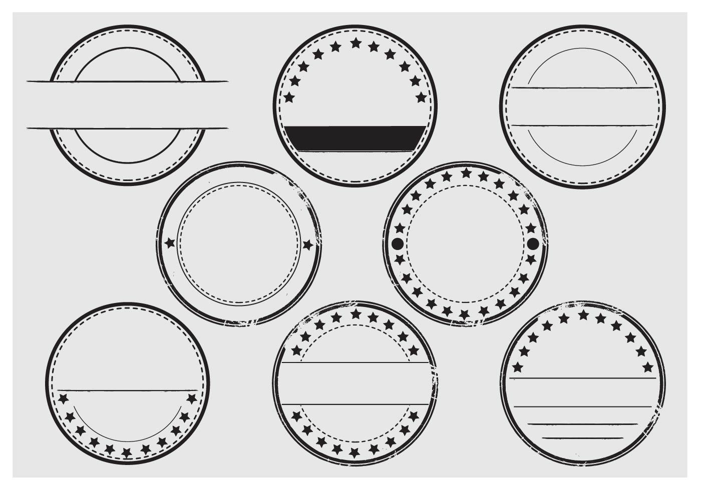 Stempel Stamp Vector Set