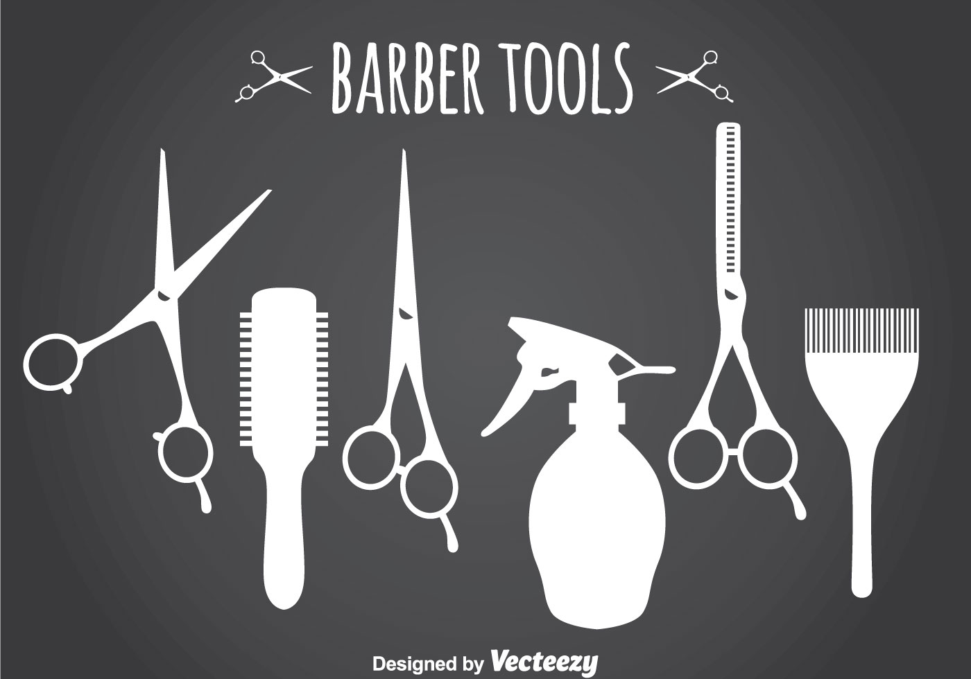 Barber Tools Silhouette Download Free Vector Art Stock