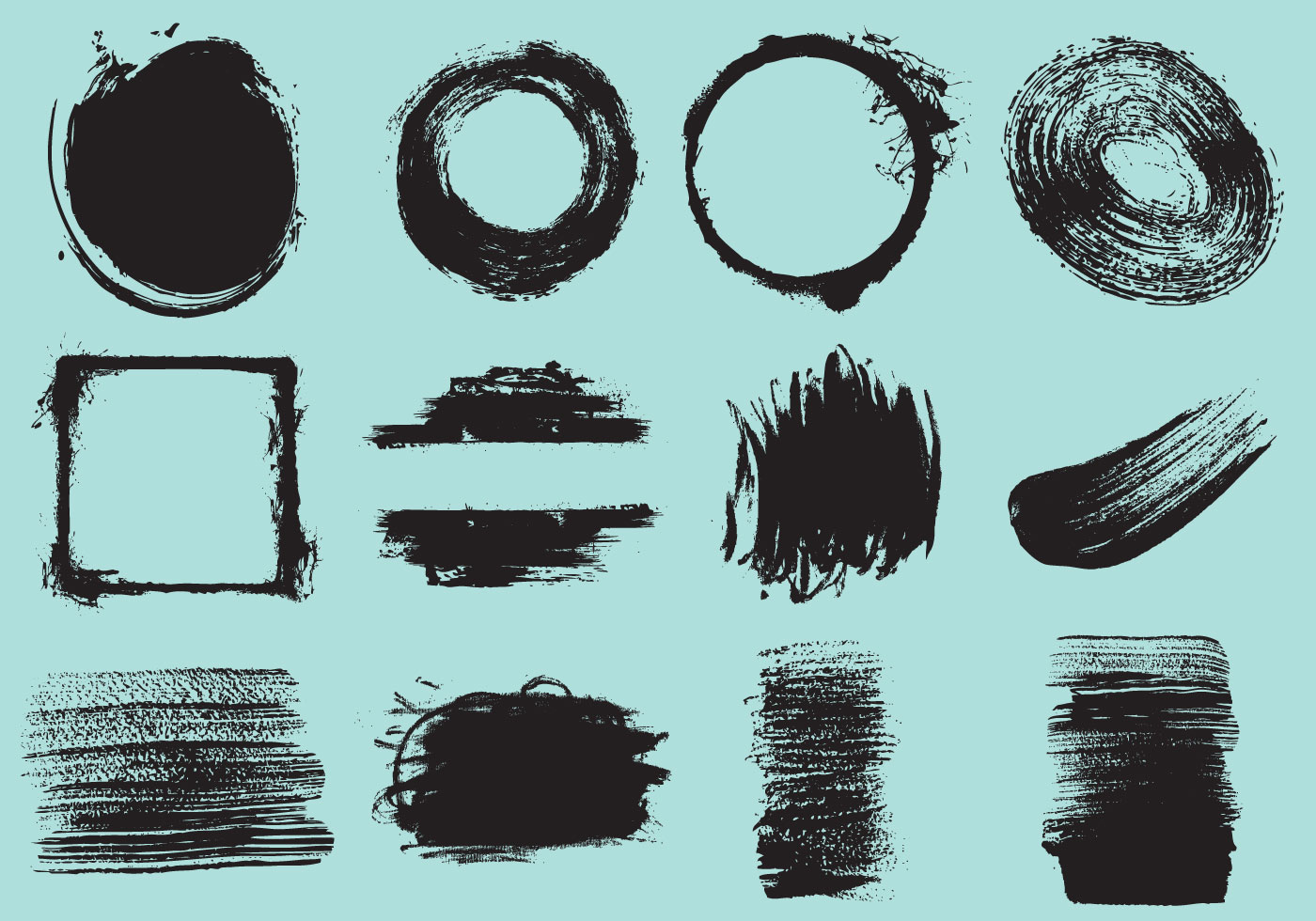 Paint Brush Strokes Graphics