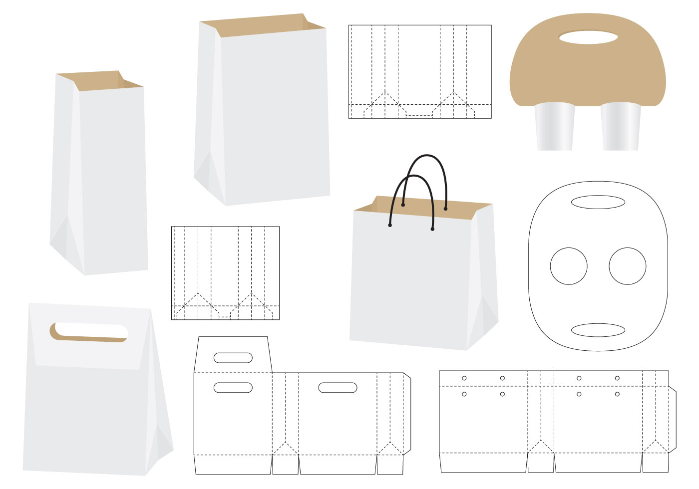Die Cut Bags Download Free Vector Art Stock Graphics