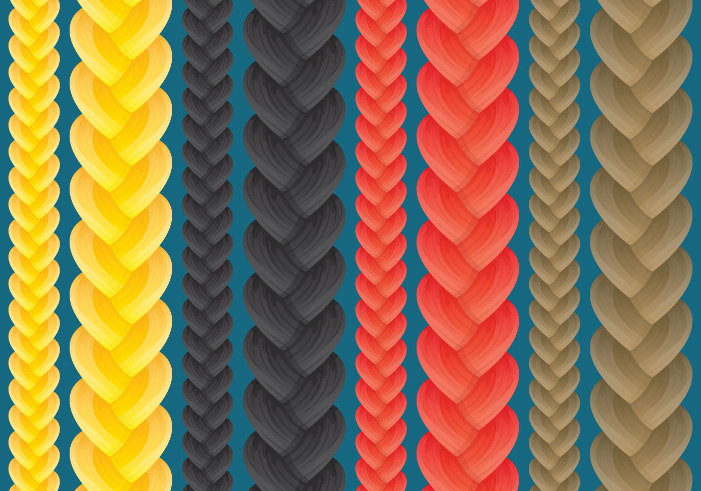 Braid Vectors Download Free Vector Art Stock Graphics