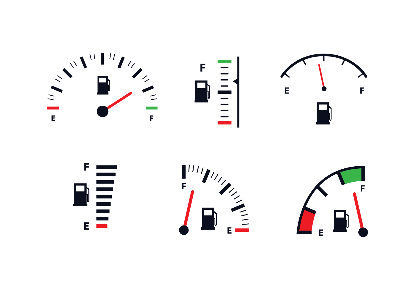 Fuel Gauge Icon Vector