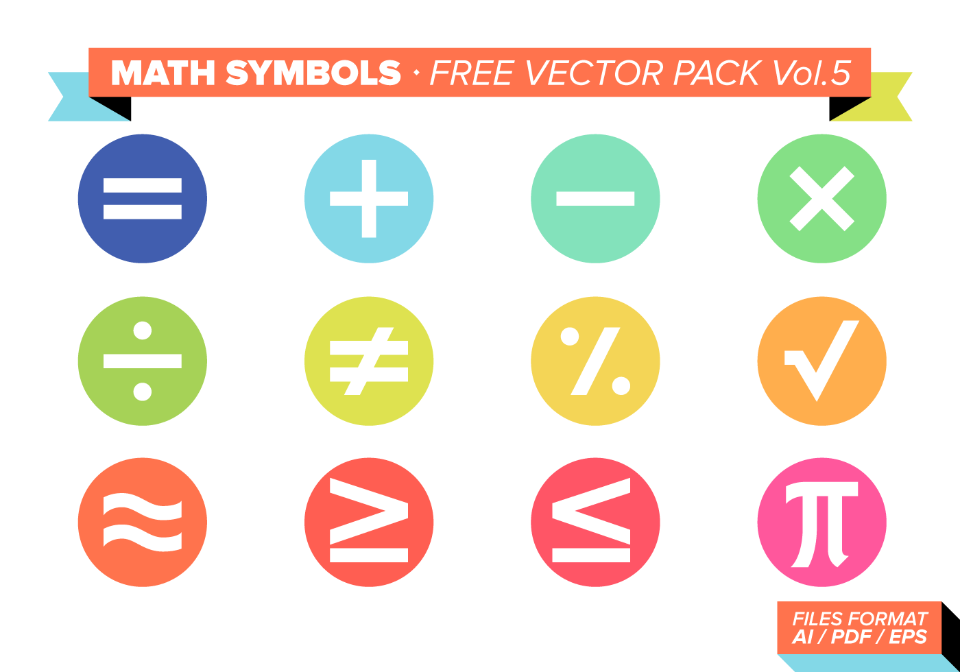 Math Symbols Free Vector Pack Vol 5