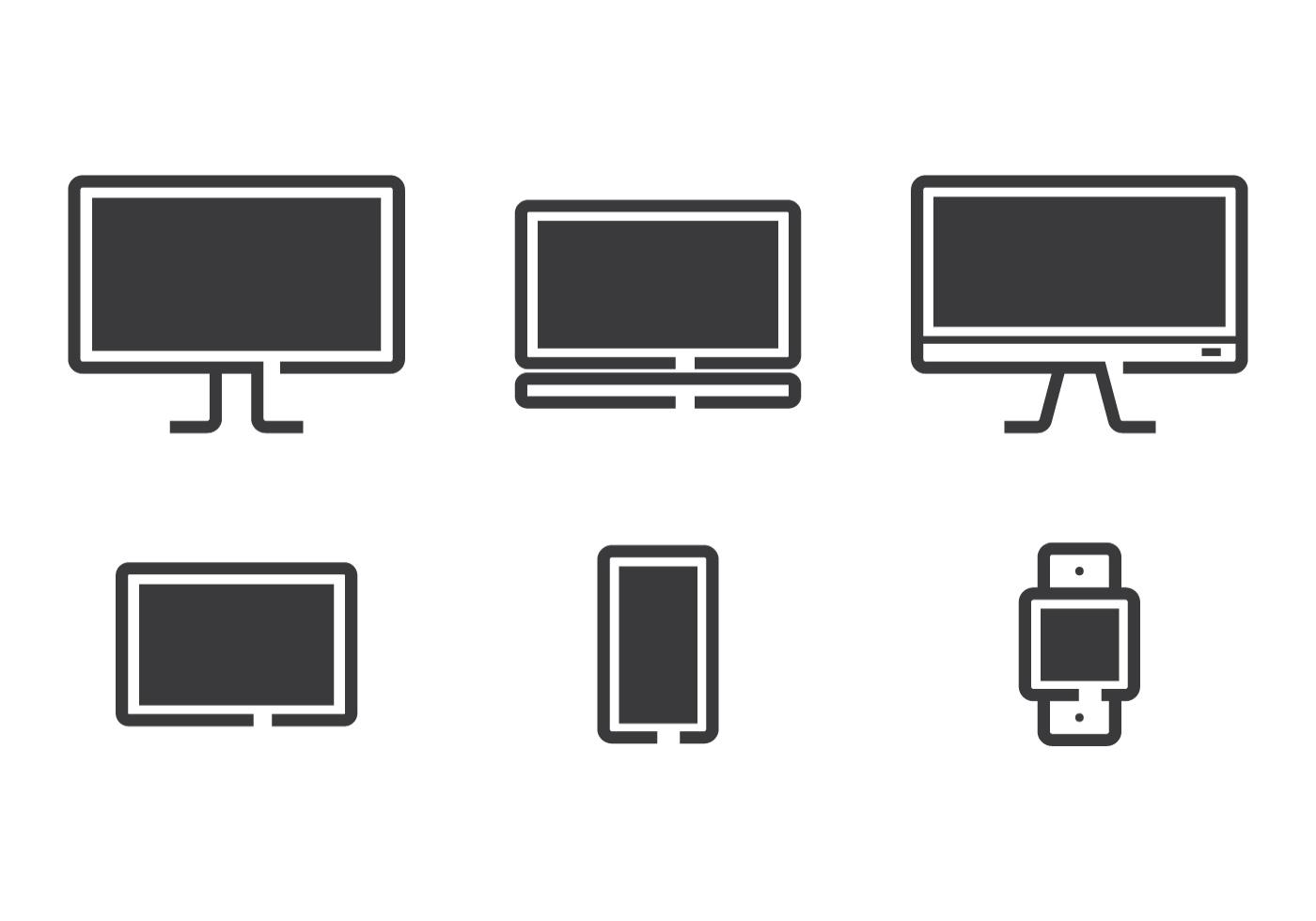 Technology Line Icon Vectors