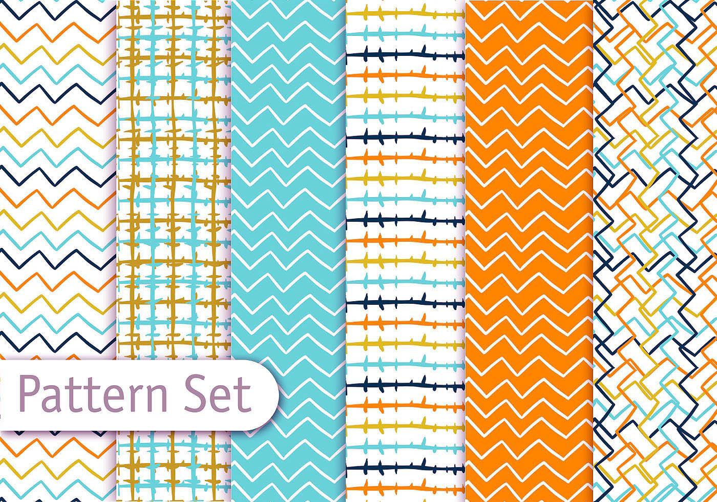 Colorful Line Art Pattern Set