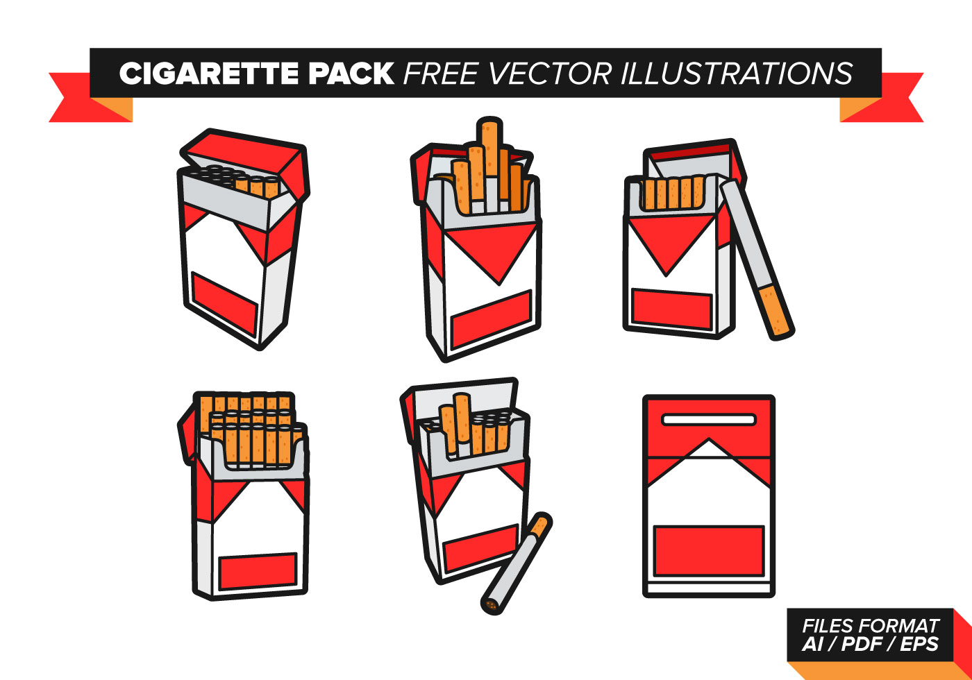 Cigarette Pack Vector Illustrations Download Free Vector
