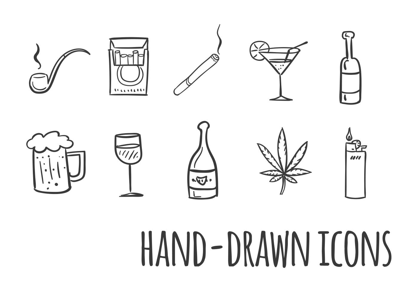 Chemistry Icons Cartoon Vector