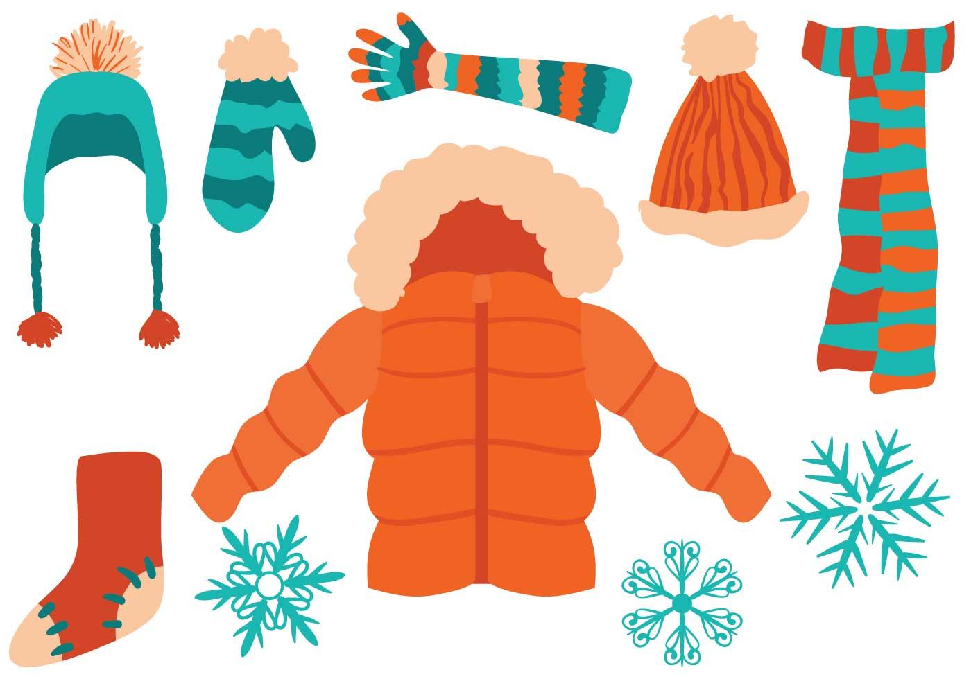 Free Winter Clothing Vectors
