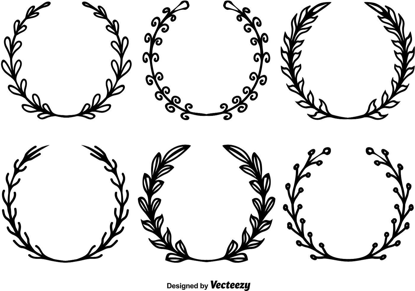 Hand Drawn Wreath Vectors