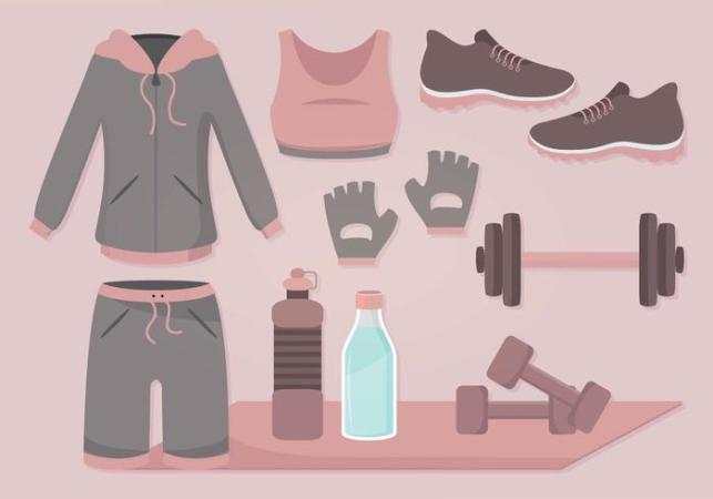 Vector Gym Accessories   Download Free Vector Art  Stock Graphics     Vector Gym Accessories