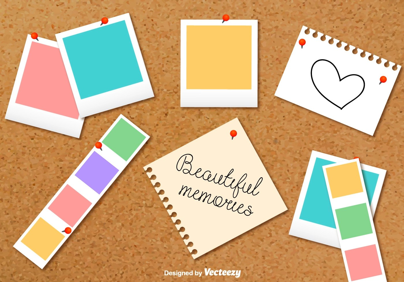 Cardboard Photo Collage Vector Background Download Free