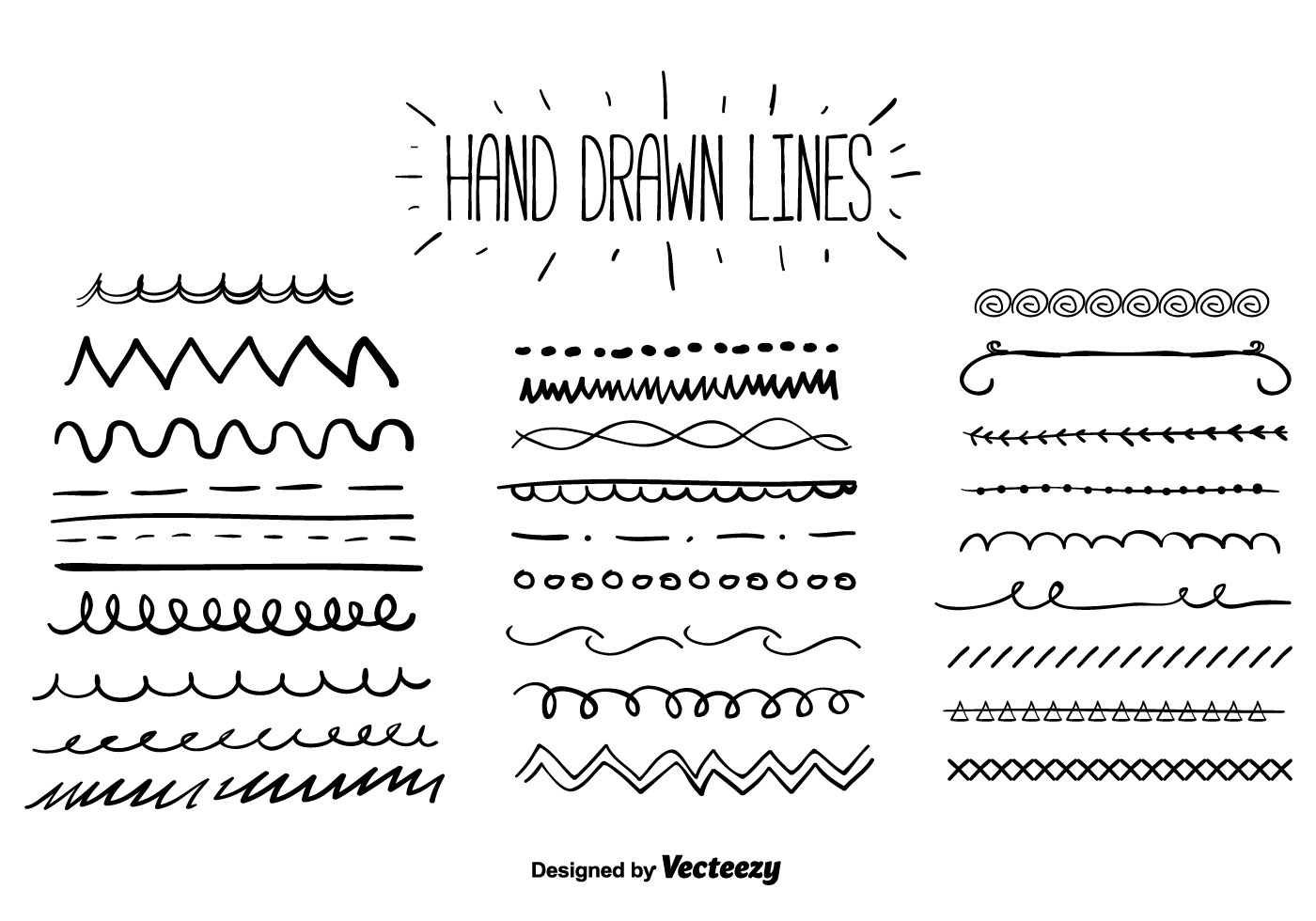 Hand Drawn Lines Vector
