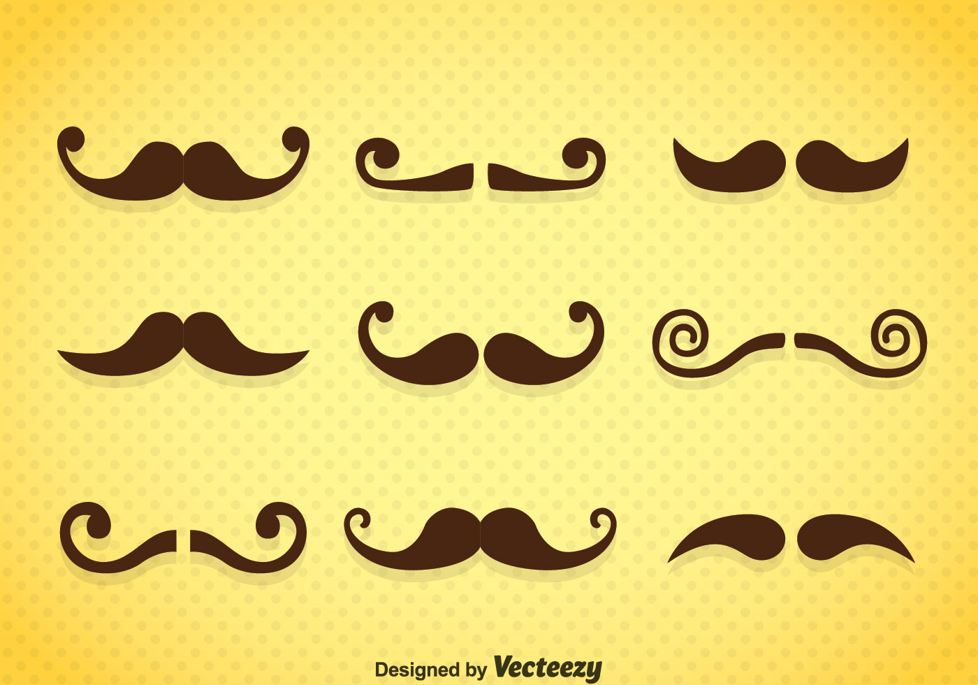 Mustaches Icons Vector Download Free Vector Art Stock