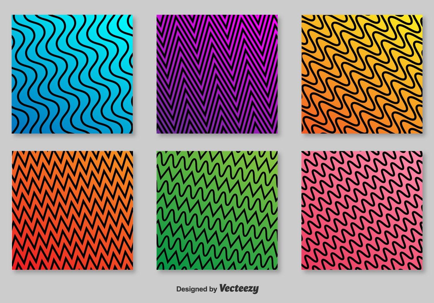 Retro Zigzag Vector Patterns
