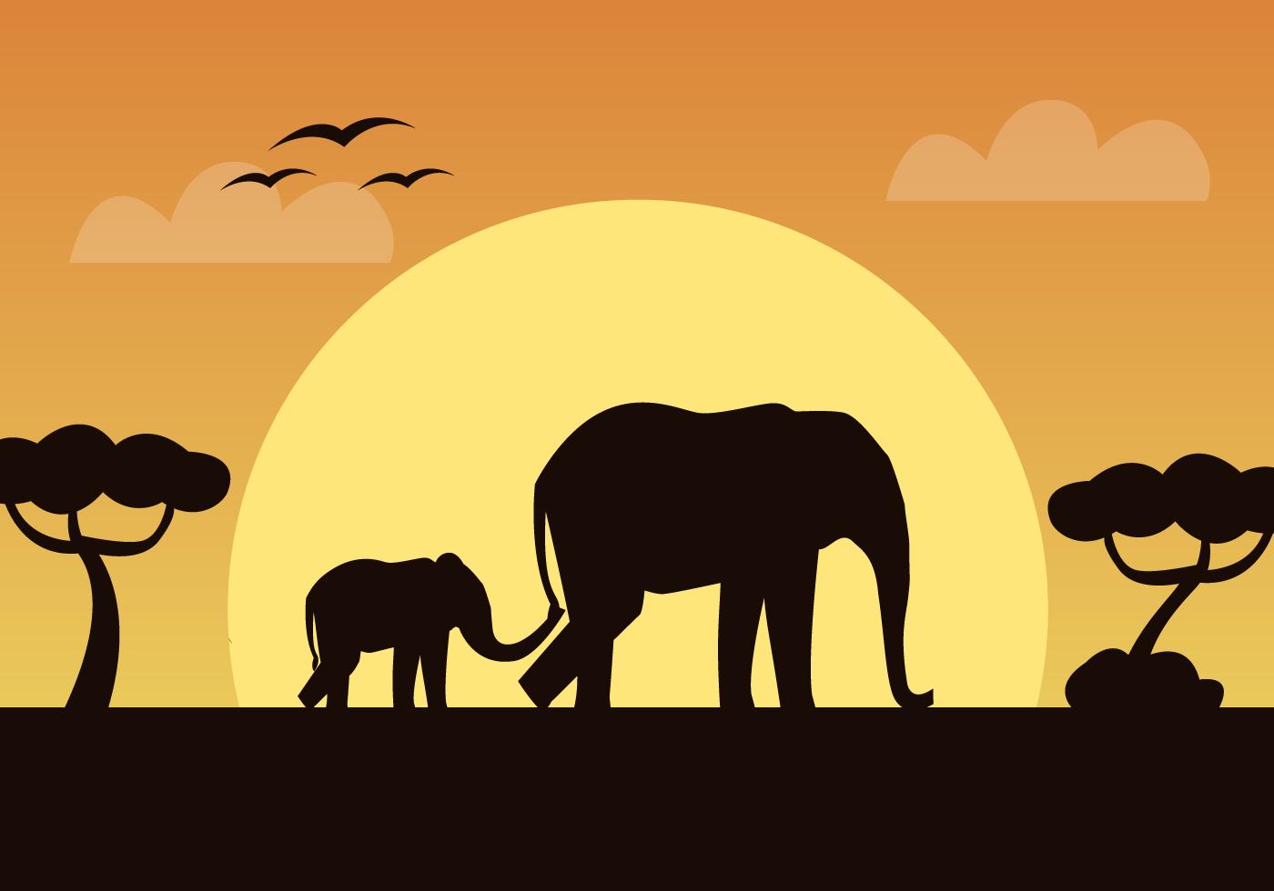 African Elephant Vector Download Free Vector Art Stock