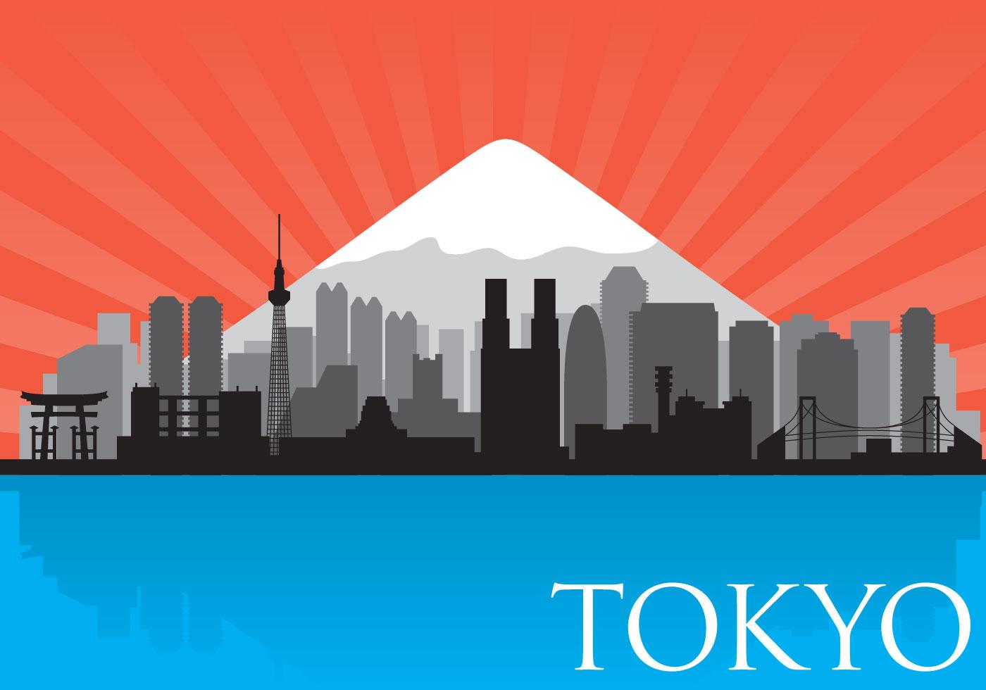 Tokyo Skyline Vector Download Free Vector Art Stock