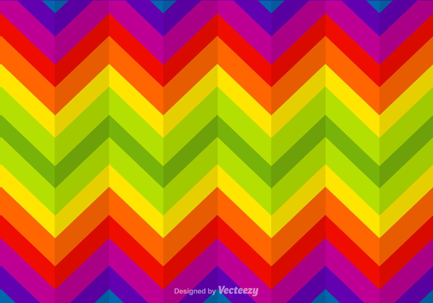 Zigzag Rainbow Vector Background