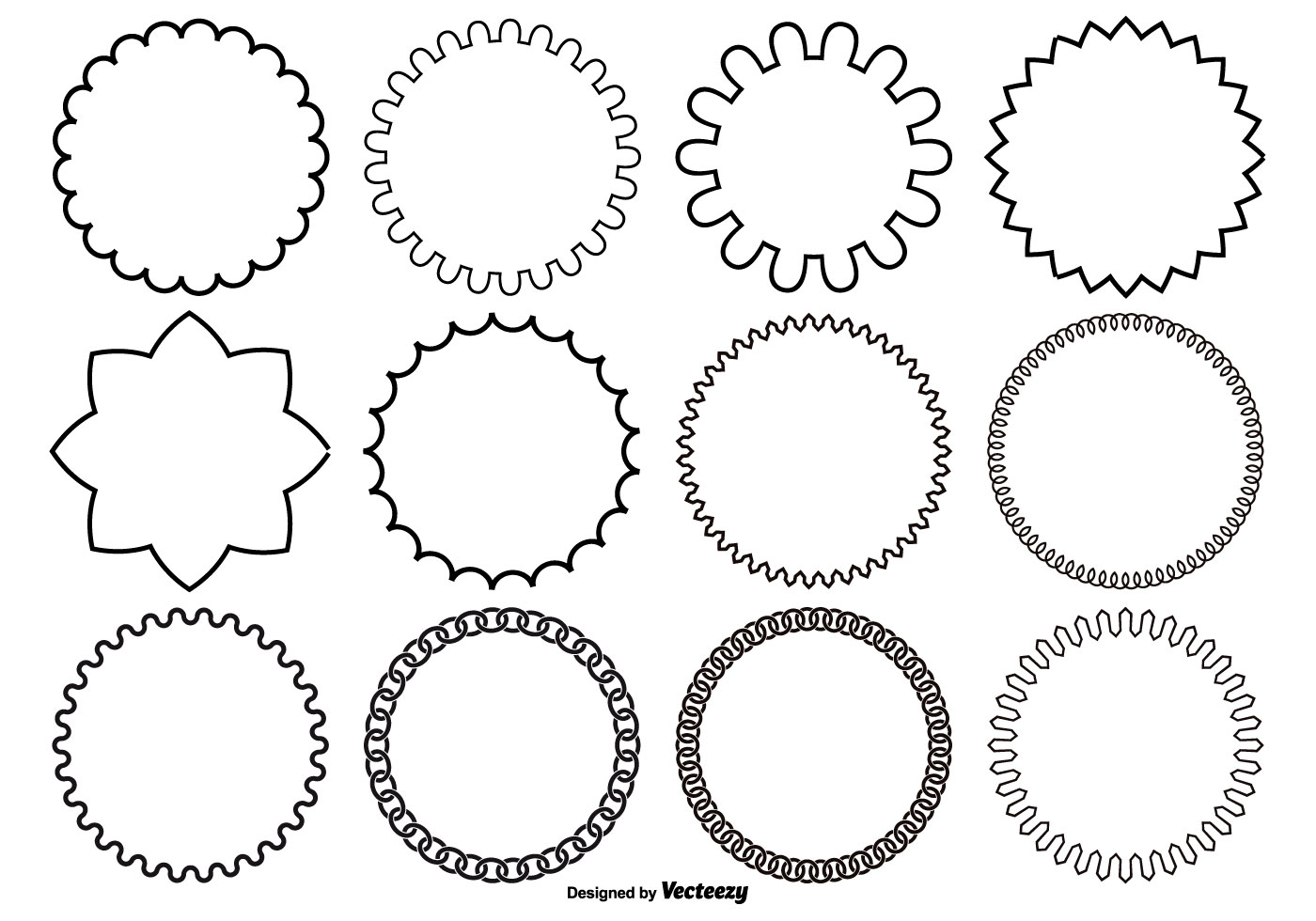 Assorted Circle Vector Shapes