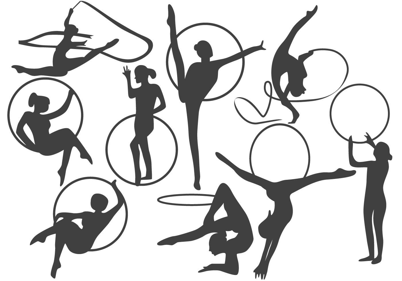 Rhythmic Gymnastics Free Vector Art