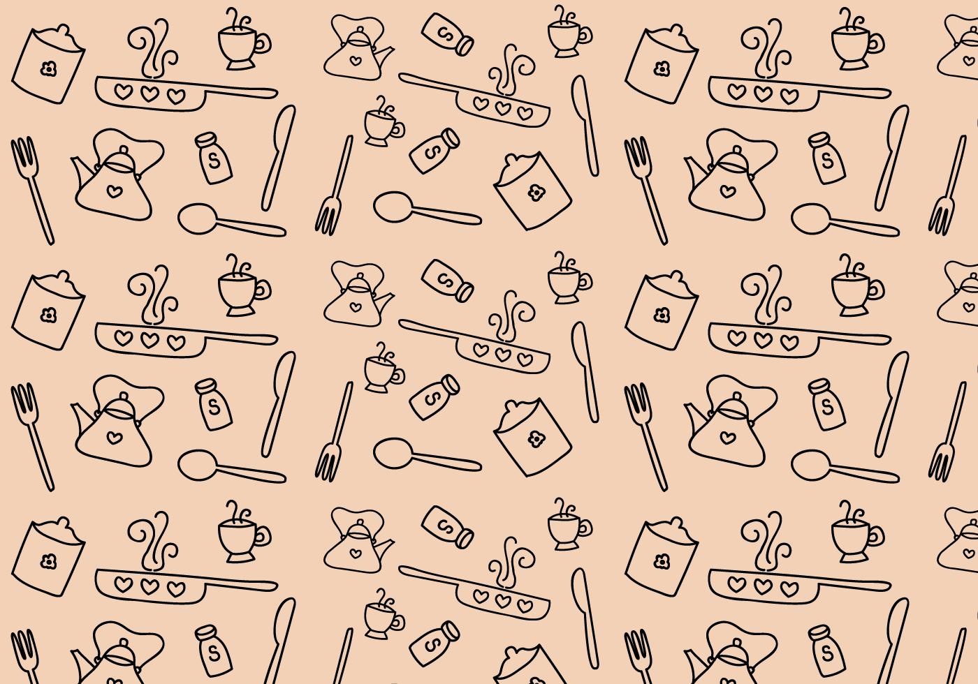 Free Kitchen Pattern Vector Download Free Vector Art