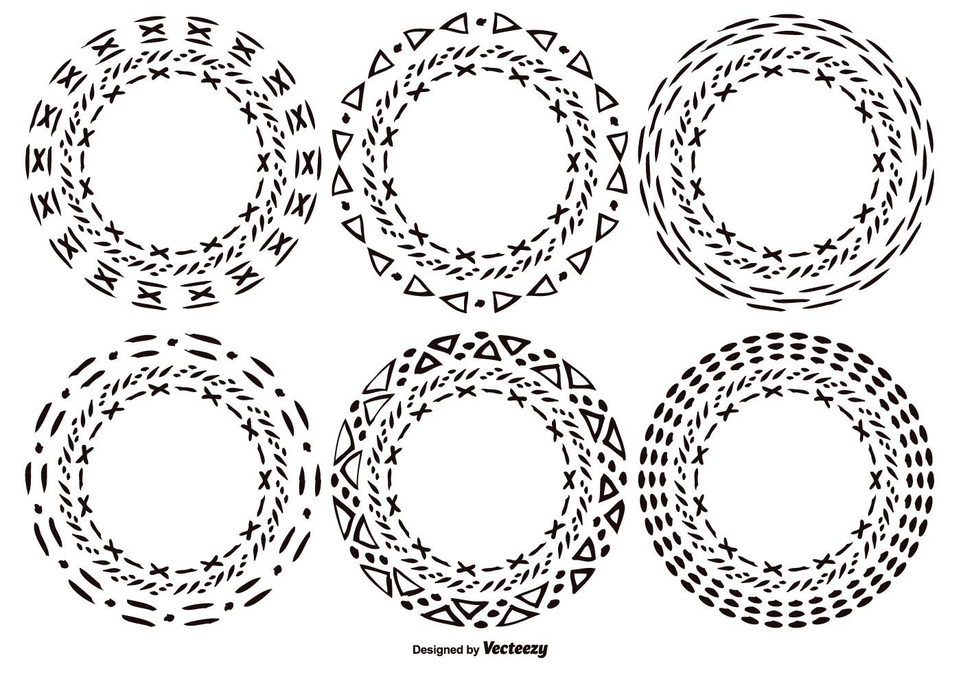 Hand Drawn Style Circle Shapes